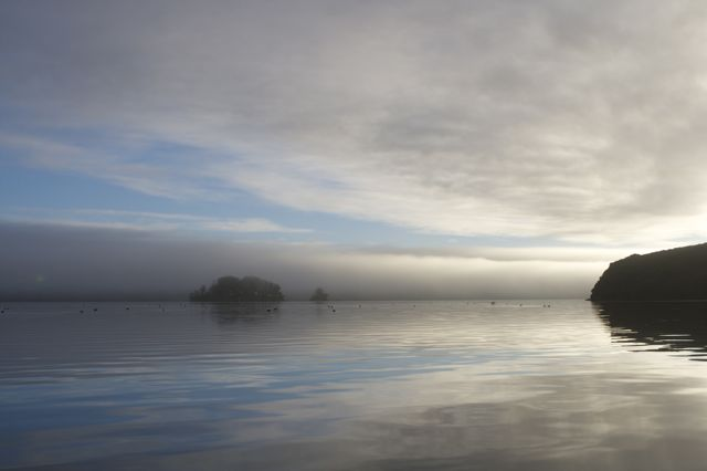 Morning Bay under Fog