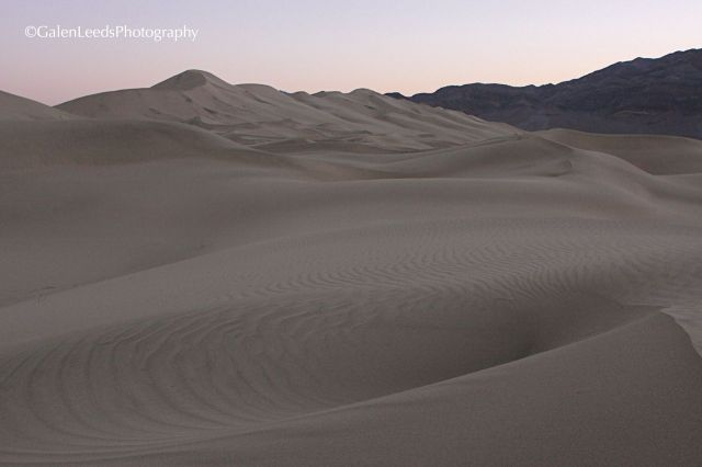 While I enjoy the texture of sunlight on the dunes, the presun light is also magical at the Eureka Sand Dunes, Death Valley National Park, Ca.